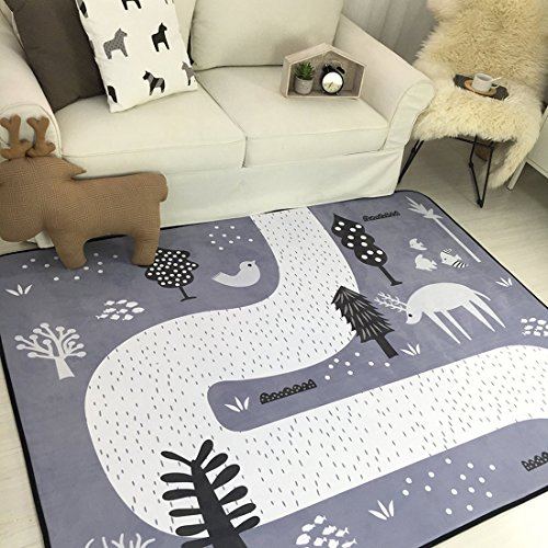 Cusphorn Forest Theme Baby Kid Toddler Play Crawl Mat Carpet Playmat Cotton Blanket Rug for In/Out Doors