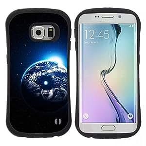 """Pulsar iFace Series Tpu silicona Carcasa Funda Case para Samsung Galaxy S6 EDGE / SM-G925(NOT FOR S6!!!) , Arte Planeta Tierra Universo Cosmos Luna"""""""