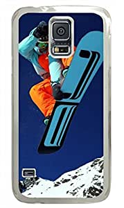 Samsung Galaxy S5 PC Hard Shell Case Mountain Skiing Transparent Skin by Sallylotus