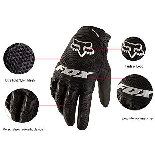 VAOO Bicycling Gloves, [Free Bonus Stylus Pen] Full Finger Bike Gloves Light Silicone Get Pad Motorcycle Gloves Riding Gloves for Men and Women(Black)