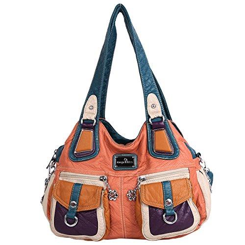 Zipper Pocket Handbag - 5
