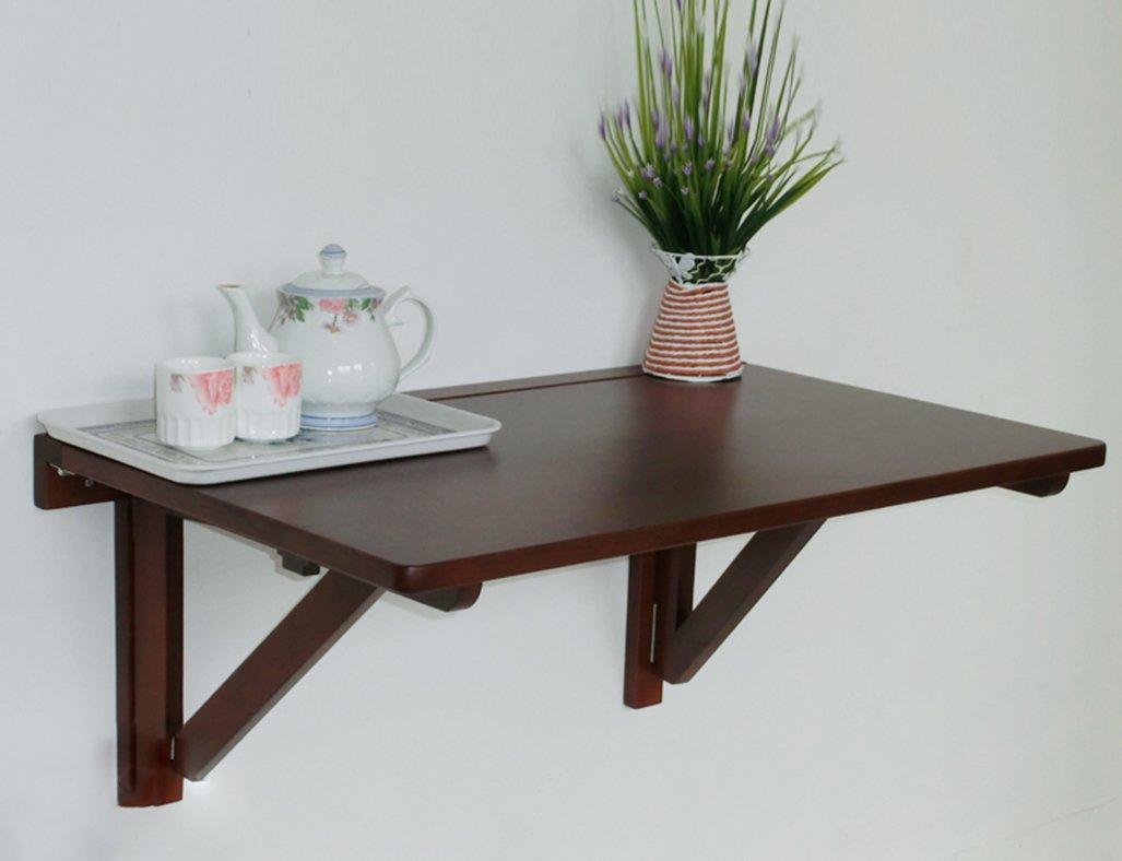LXF 折りたたみテーブル ソリッドウッドウォールドテーブルフォールド可能なウォールテーブルダイニングテーブルコンピュータデスクバーウッドカラーホワイトレッド (色 : 赤, サイズ さいず : 60*40cm) B07BTY4HKB 60*40cm|赤 赤 60*40cm