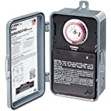 NSi Industries TORK TU40 Indoor/Outdoor 40-Amp Universal Multi-Volt Electromechanical Appliance Timer - 24-Hour Programming - Multiple On/Off Settings - 120-277-Volt - Compatible with Incandescent/Compact Fluorescent/LED - Same On/Off Times Each Day