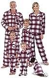 #9: PajamaGram Christmas Pajamas for Family - Fleece Matching Pajamas, Red