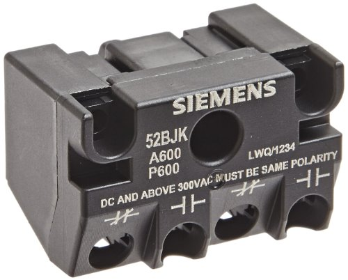 Siemens 52BJK Hazardous Location Touch Safe Contact Block, Gold Flashing, 1 NO + 1 NC