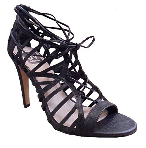 Dolce Vita Kvinnor Tessah Sandal Svart Läder Storlek 10