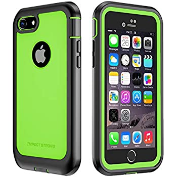 new style f98c4 e99bd iPhone 7/8 Case, ImpactStrong Ultra Protective Case with Built-in Clear  Screen Protector Full Body Cover for iPhone 7 2016 /iPhone 8 2017 (Lime  Green)