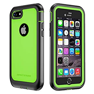 IMPACTSTRONG iPhone 7/8 Case, Ultra Protective Case with Built-in Clear Screen Protector Full Body Cover for iPhone 7 2016 /iPhone 8 2017 (Lime Green)