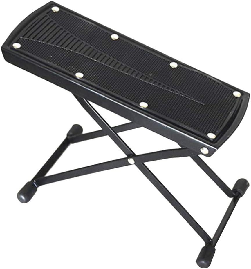 調節可能な6ギア折りたたみギターレストフットスツール非スリップギターフットレスト