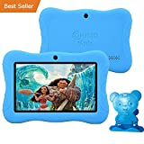 HOLIDAY SPECIAL! Contixo Kids Safe 7'' Quad-Core Tablet 8GB, Bluetooth, Wi-Fi, Cameras, 20+ Free Games, HD Edition w/ Kids-Place Parental Control, Kid-Proof Case (Blue) - Best Gift For Christmas