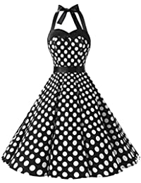 Vintage Polka Dot Retro Cocktail Prom Dresses 50s 60s Rockabilly Bandage