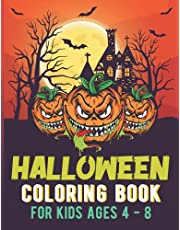Halloween Coloring Book for Kids Ages 4-8 Years Old: Colouring Book for Toddlers  Halloween Gifts for Kids (Halloween Books for Kids)