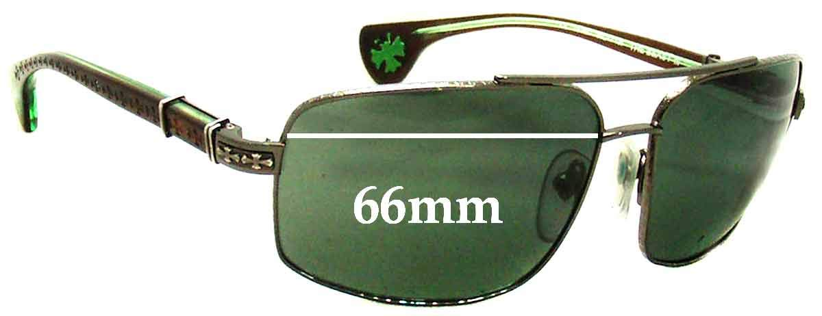 Not SFX Replacement Sunglass Lenses fits Chrome Hearts The Beast III 66mm Wide