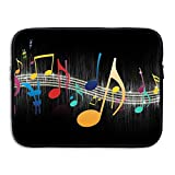 Musical Notes Laptop Bag, 15 Inch Notebook Briefcase Laptop Sleeve Bag Cover For 15 Inch Inch Ultrabook / Lenovo Dell / MacBook Pro / Macbook Air,Travel,Business,College