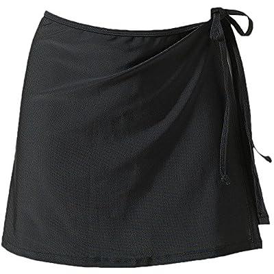 JadeRich Women's Solid Side Tie Bikini Skirt Swim Dress