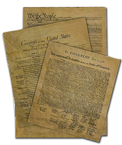 Documents of Freedom Bundle. Declaration of Independence, United States Constitution and the Bill of Rights.