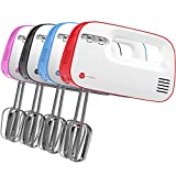 Vremi 3 Speed Hand Mixer w Compact Storage 150W Red & White (Small Image)