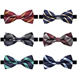 Kyпить AVANTMEN 6 PCS Adjustable Pre-tied Bow Tie Set for Men in Gift Box Mixed Color Assorted Ties (Style E, 6 Pack) на Amazon.com