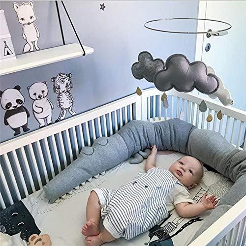 Duless Kinderbett Sto/ßstange Bettumrandung Sto/ßf/änger Krokodil Stil Weben Bettumrandung Kantenschutz Kopfschutz Dekoration f/ür Babybett