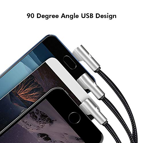 Xmate Mettle Pro 3 in 1 Cable Fast Multi Charger Cable Nylon Braided Charging Cable for Type-C, Micro and iPhone Pins, Smart Charge 3 Port Data Charging Cable For All Smartphones(3 in 1 Cable)-(Black)
