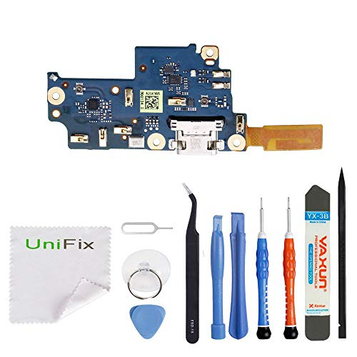 (Unifix USB Charging Port Dock Connector Flex Cable Assembly Replacement + Mic for Google Pixel XL 5.5 (All Carriers))