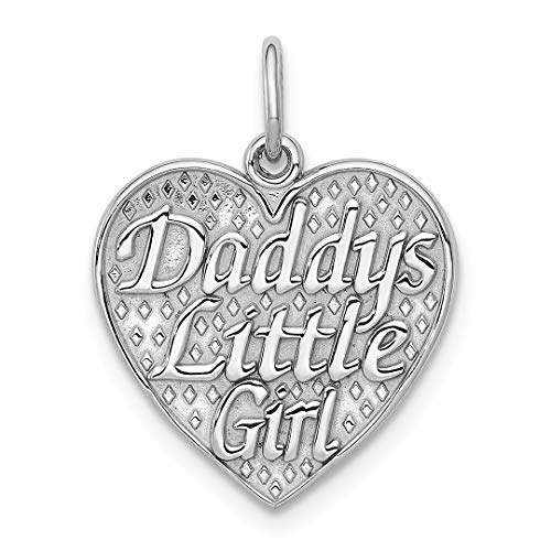 ICE CARATS 14kt White Gold Daddys Little Girl In Heart Pendant Charm Necklace Fine Jewelry Ideal Gifts For Women Gift Set From Heart