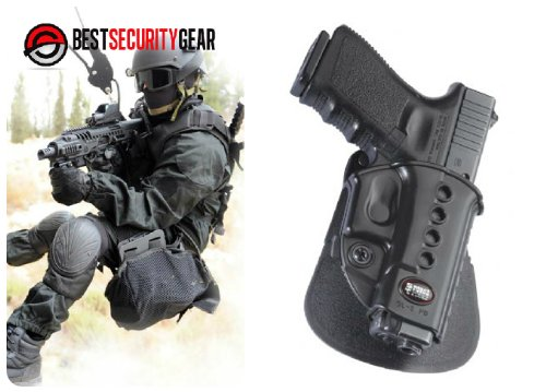 GL2ND ROTO Fobus Black Right Hand RH Gun ROTO Holster for Glock 17 18 19 22  23 25 26 31 32 34 35 / WALTHER PK-380 GL2ND-RT GL2E2 ROTO Fobus + Best