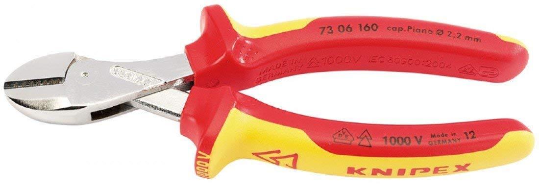 Draper 65/747,9/cm X CutKnipex VDE haute Levier diagonale Pince coupante de c/ôt/é Multicolore