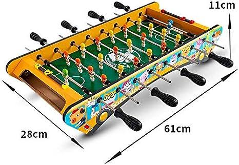 JACKWS Interesante Mesa de futbolín niños/Mesa Plegable Fútbol, Mini Deluxe, fútbol de Mesa, futbolín Familia, Apto for Personas de más de Tres años de Edad, Amarillo-L (Color : Yellow, Size : L):