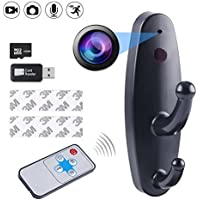 Spy Hidden Camera Clothes Hook,DigiHero 16GB Mini Camera Clothes Hook with Remote control,Video Recorder Motion Activated Home Security DVR-Black