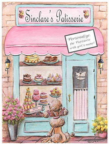 - Girls Custom Name Personalized Poster For Pink Bedroom Decor, Bakery Cafe Cupcake Paris Themed Wall Art, Choose Font, Unframed Print, 6 sizes