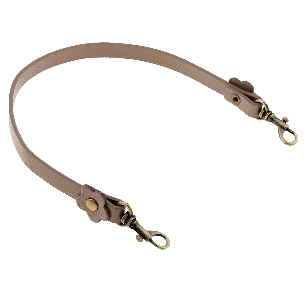 khaki MagiDeal 0.47 Width Replacement Purse Strap Handbag Bag Wallet Leather Straps For Small Bag Purse Handle DIY Accessories