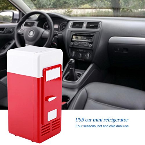 ERTIANANG LED Mini USB Refrigerator USB Refrigerator Drinks Beverage Cans Refrigerator and Heater for car office or home by ERTIANANG (Image #1)