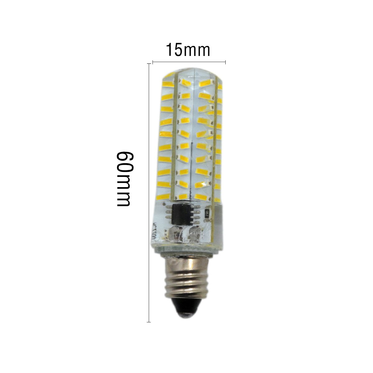 Size : Warm White 1PCS QIBAOHANG CO Dimmable E11 5W 80 LED 4014 SMD Warm White Cool White LED Silica Gel Lamp AC 220-240V