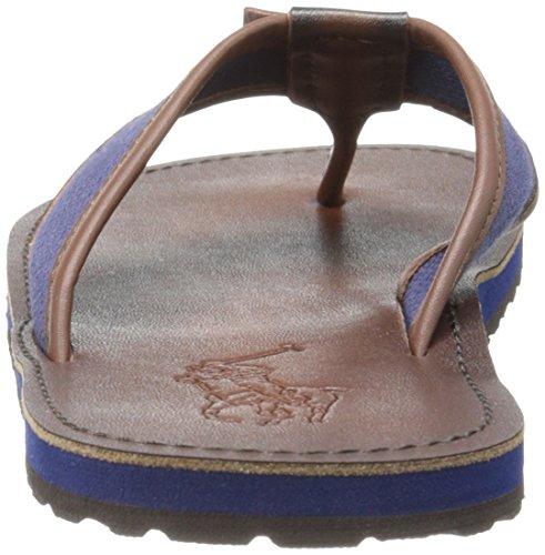 ... Polo Ralph Lauren Menns Sullivan Flip-flop Newport Marineblå / Mørk Brun  ...