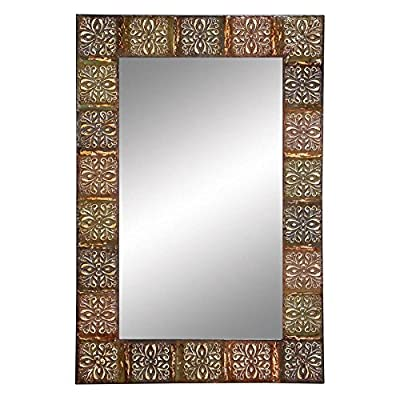 Aspire Home Accents Embossed Metal Frame Wall Mirror - 24W x 36H in.