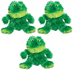 Kong Dr Noys Material SITTING FROG Dog Squeak Toy No Mess Medium (NF2) 3 PACK