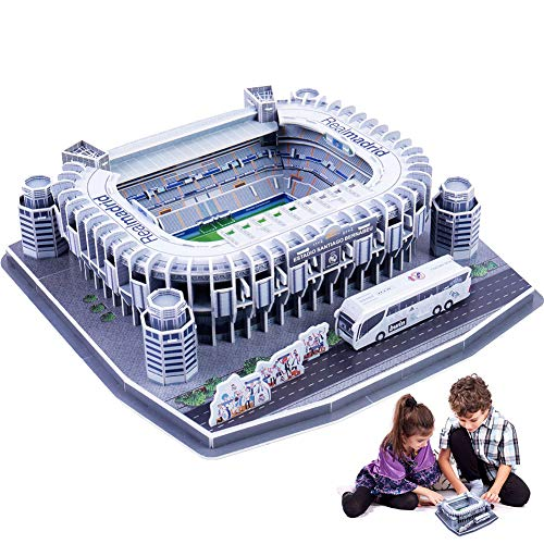 1 Pack Children's Puzzle Game DIY World Cup Football Field 3D Assembly Paper Model Football Fans Memorabilia Gift Toys for Adult and Kids(Bernabeu) ()