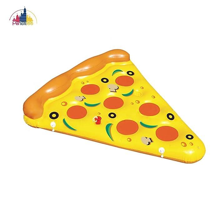 Pericross - Flotador hinchable para piscina sin bomba de inflado, Pizza: Amazon.es: Jardín