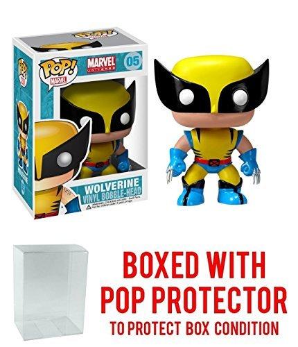 Funko Pop! Marvel: X-Men - Wolverine Vinyl Figure (Bundled with Pop BOX PROTECTOR CASE) -