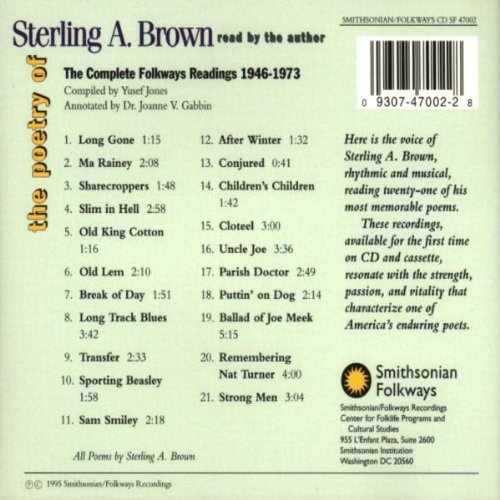 Sterling Brown - Reads His Own Poetry - Amazon com Music