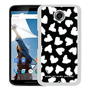 Newest And Fashionable Google Nexus 6 Case Designed With Marc by Marc Jacobs 17 White Google Nexus 6 Screen Cover High Quality Cover Case