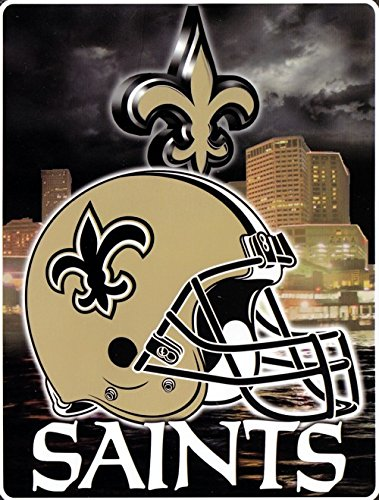 - NFL Aggression Raschel Throw NFL Team: New Orleans Saints