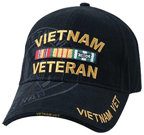 Hat Vintage Era (Vietnam Veteran Military Vet Baseball Cap Mens Cotton Hat Black)