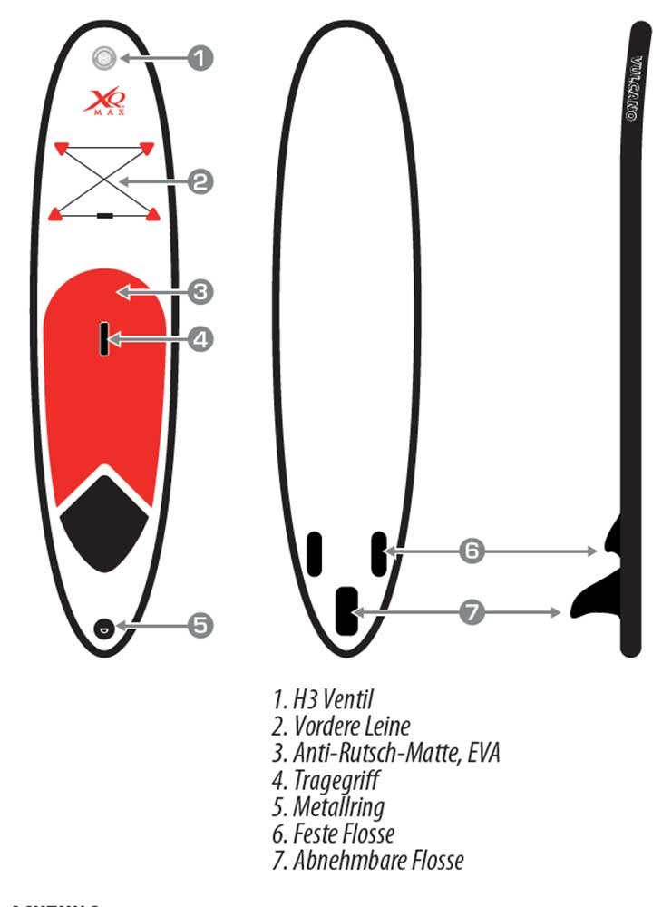 XQ Max Tabla de Surf de Pala Sup, Hinchable, Juego Completo, 305 cm