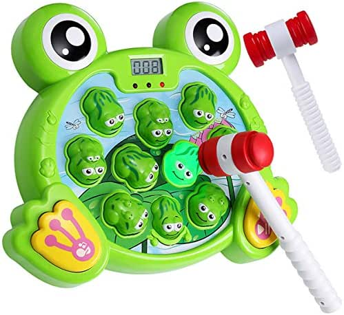 Yuham Whack a Frog Pounding Game, Developmental Toys for 2,3 4 5 6 7 8 Year Old Boys & Girls Gift, Helps Fine Motor Skills