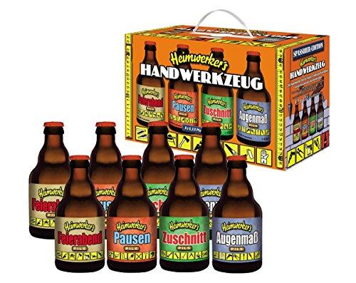 Heimwerkers Handwerkzeug Bierkiste im Geschenkkarton (8 x 0.33 l)