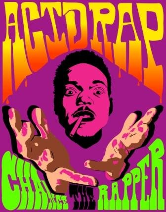 Scotch Painter's Tape Posters Elite's Singer Chance The Rapper Acid Rap Poster 12 x 18 Inch Poster Print Rolled Wall Decor