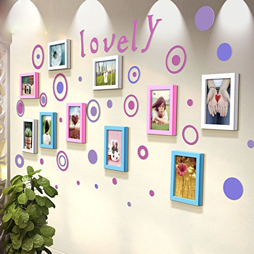 TIANTA- Balloon Stereo Wall Stickers Solid Wood Frame Wall Children's Room Kindergarten Decoration Life According To Art Photos Photo Wall adorn ( Color : #3 )