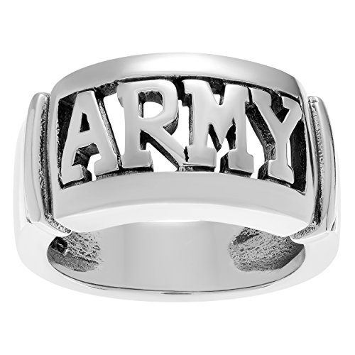 Silver Army Ring - Territory Sterling Silver Army Emblem Ring